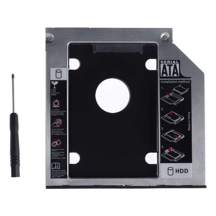 Rack (adaptor) DVD super slim SATA caddy la 2.5 SATA HDD sau SSD