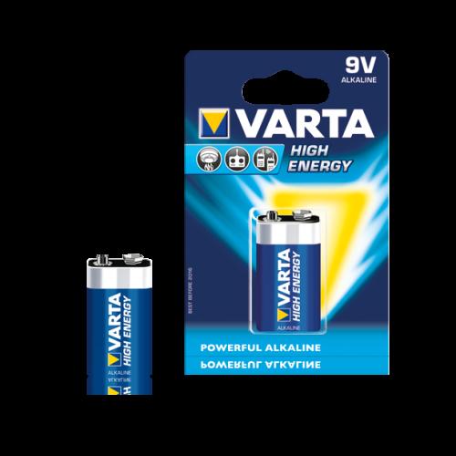Baterie alcalina 6LR61 (9V) 4922 Varta High Energy