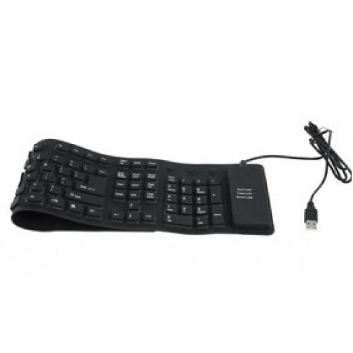 Tastatura flexibila PC pe USB