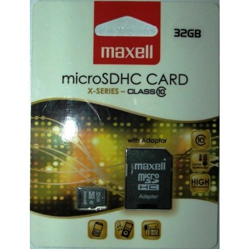 Card memorie 32GB microSDHC cu adaptor pentru SD