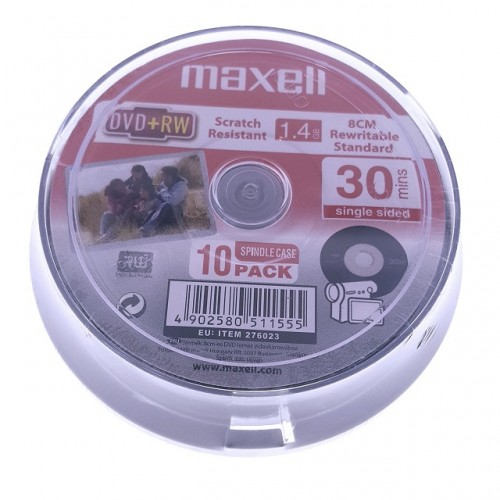 Mini DVD+RW Maxell 1.4Gb, set 10 buc.