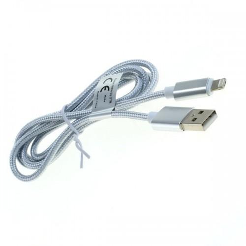 Cablu USB A tata la microUSB combinat cu iPhone7 8 pini Lightning, 1m, argintiu