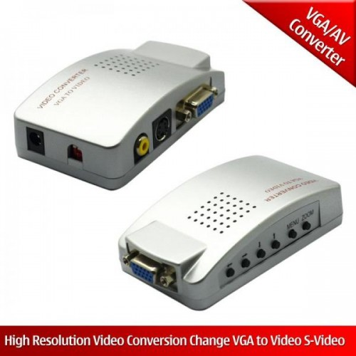 Convertor VGA la S-Video si compozit video (RCA)