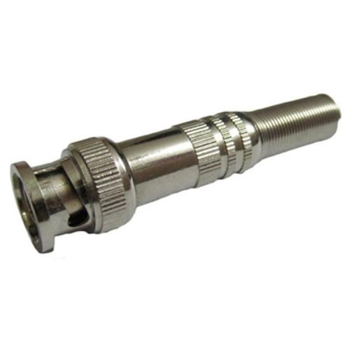Mufa BNC tata cu protector cablu capac din metal, fixare rapida, pin aurit