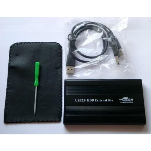 """Carcasa (rack) metalica pentru HDD 2.5"""" SATA cu port USB 2.0"""