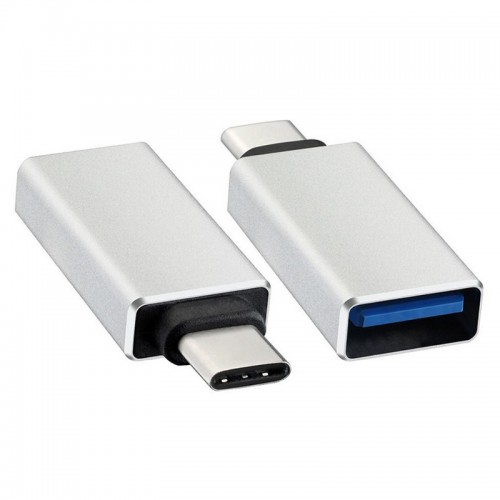 Adaptor USB-C (USB 3.1) tata la USB 3.0 A mama, OTG, carcasa aluminiu