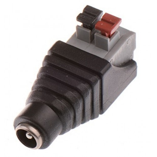 Mufa alimentare mama DC 5,5 x 2,1mm cu clipp pentru prindere cablu alimentare, pentru CCTV (supraveghere)