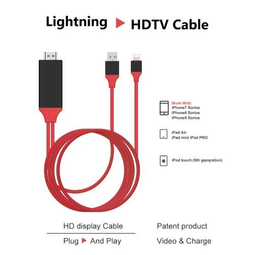 Cablu adaptor conector iPhone lightning la HDMI, 2m