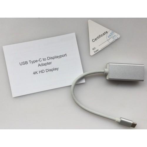 Convertor semnal de la USB-C (USB3.1) tata la Displayport (DP) mama