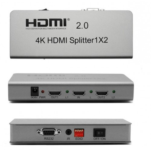 Spliter(splitter, multiplicator) HDMI 2.0 4K 1 intrare 2 iesiri