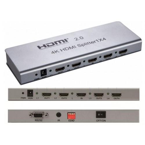 Spliter(splitter, multiplicator) HDMI 2.0 4K 1 intrare 4 iesiri
