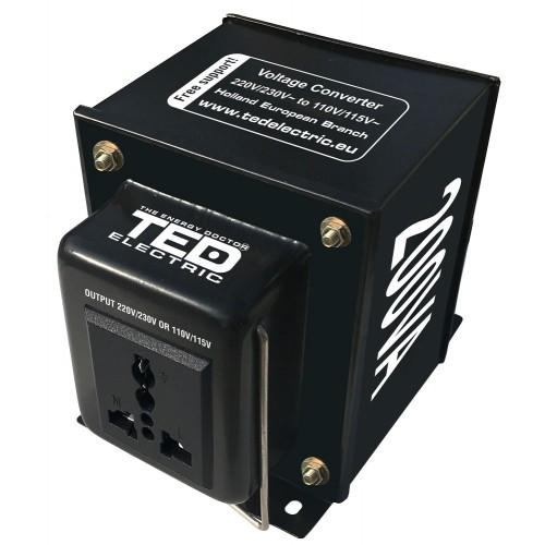 Convertor de tensiune de la 230V AC la 110V AC 200VA ~140W