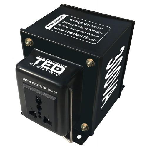 Convertor de tensiune de la 230V AC la 110V AC 300VA ~210W