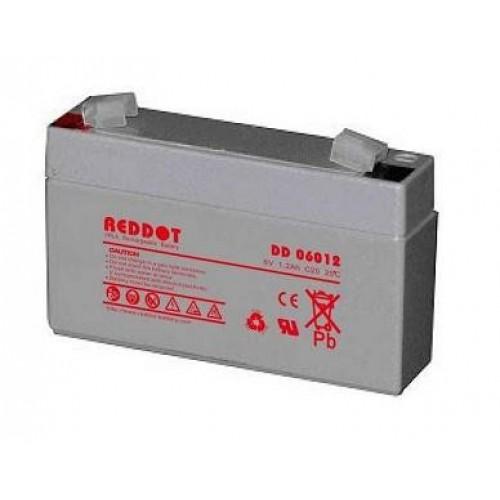 Acumulator plumb acid RedDot 6V 1,2Ah (Faston 187 - 4,8mm)