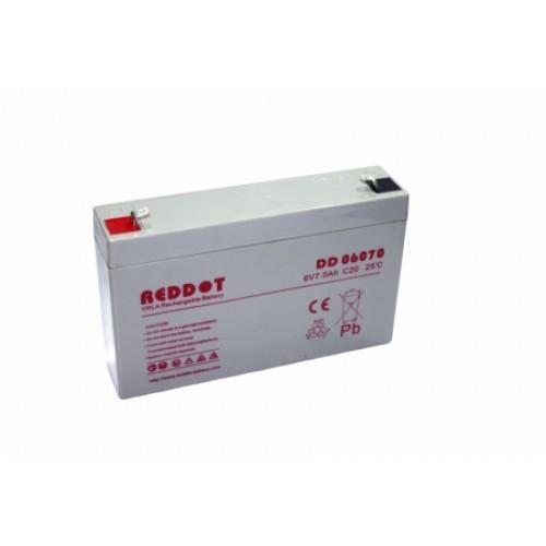 Acumulator plumb acid RedDot 6V 7Ah (Faston 187 - 4,8mm)