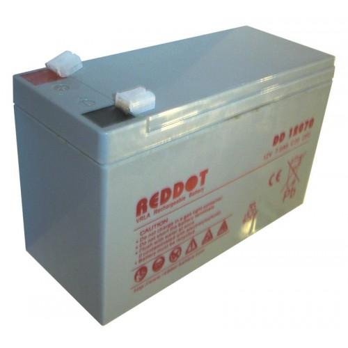 Acumulator plumb acid Reddot 12V 7Ah (Faston 230 - 6,4mm)