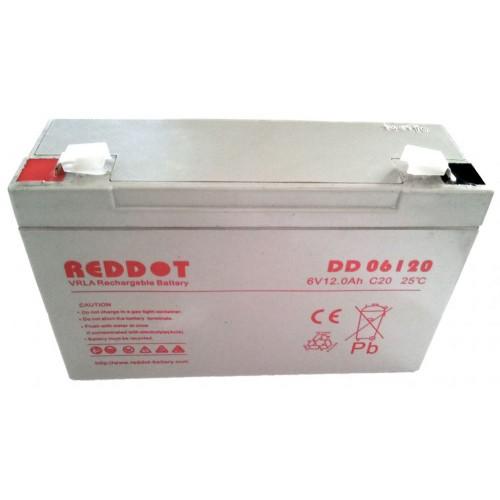 Acumulator plumb acid RedDot 6V 12Ah (Faston 187 - 6.4mm)