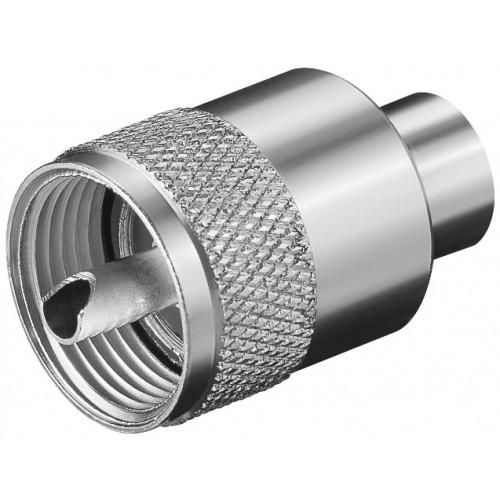 Mufa UHF tata pentru RG58U maxim 5.3mm