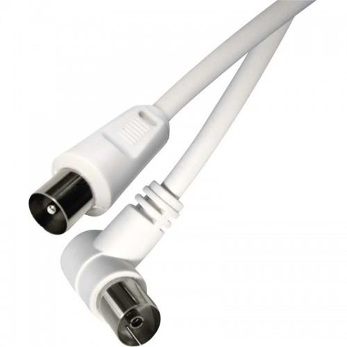 Cablu coaxial 3C-2V 2,5m coax tata la coax mama 90°