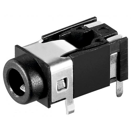 Mufa 4 contacte 3,5mm Jack mama, stereo, plastic, pe panou