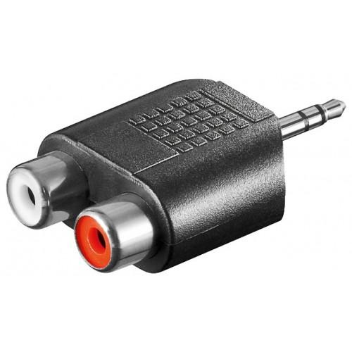 Adaptor audio 3,5mm Jack stereo tata la 2 x RCA mama