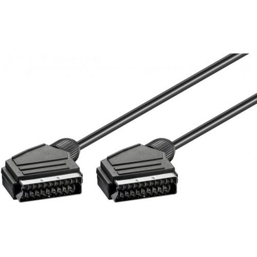 Cablu SCART low cost 1.5m 21p tata la 21p tata