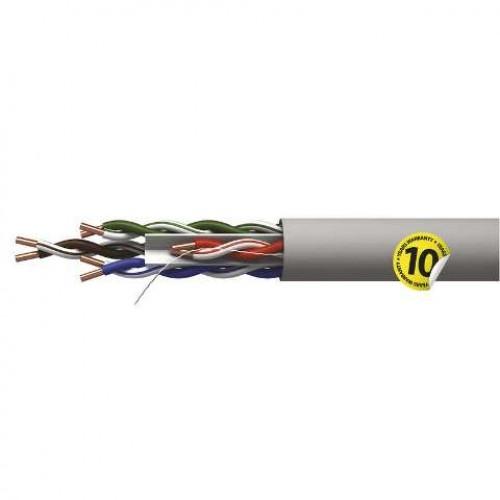 Cablu retea CAT 6 U/UTP, neecranat, cupru, gri, AWG23