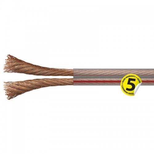 Cablu difuzor din cupru, transparent, 2 x 1,50mm²