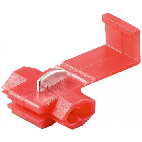Conector rapid pentru cabluri 0,5-1,5mm², rosu