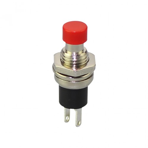 Buton push off (normal inchis), rosu, 250V 0,5A