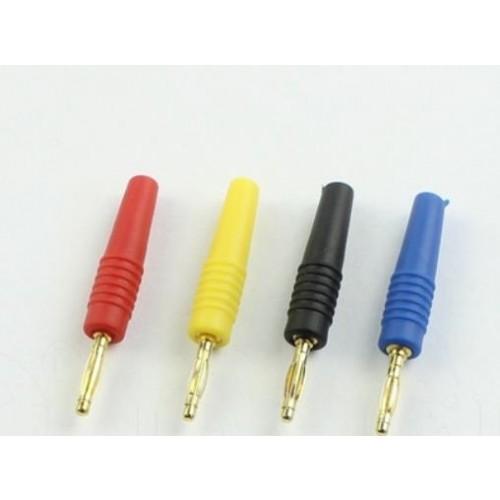 Mufa banana tata, 2mm, plastic, negru, contacte aurite, pentru cabluri de max 1.5mm