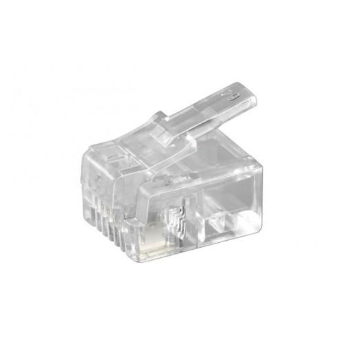 Mufa RJ11 (6P4C) pentru cablu plat