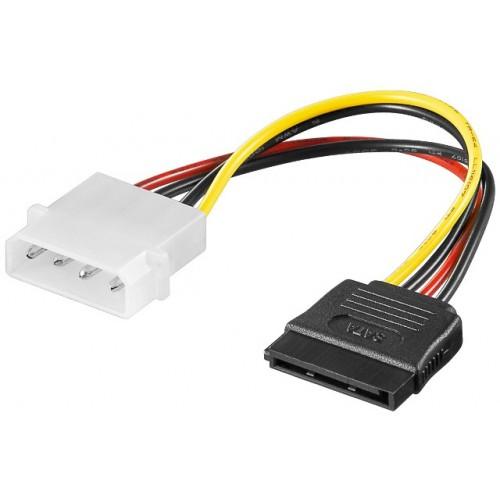 Cablu alimentare Molex 4 pini 5.25 tata la SATA mama
