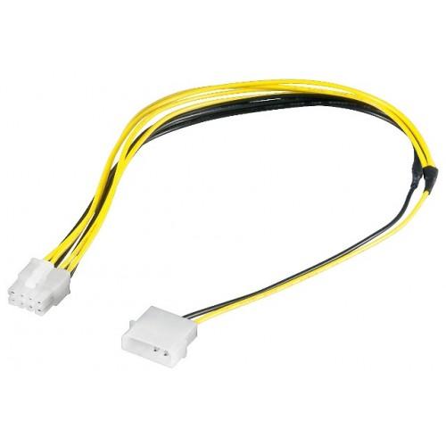 Cablu alimentare 5,25 tata la PCI-E 8 pini, 28cm