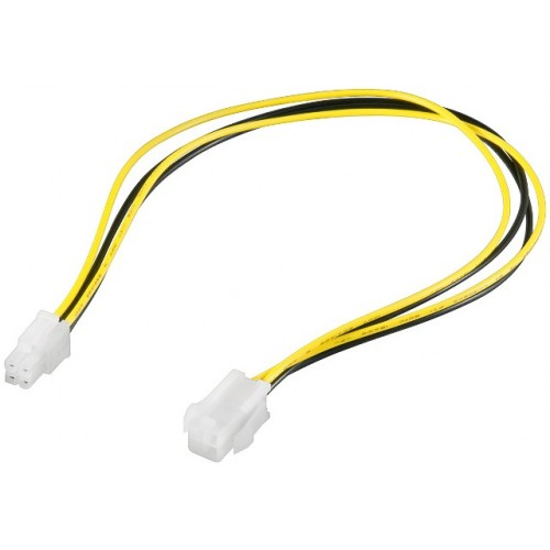 Cablu extensie alimentare 4 pini tata - mama, 15 cm