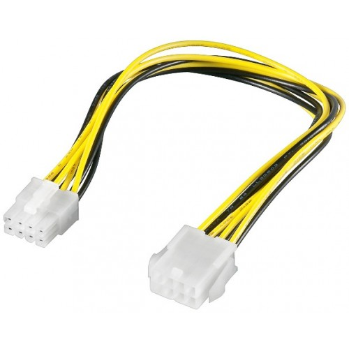 Cablu alimentare P8 mama la P8 tata (prelungire PCI-E 8 pini), 20cm