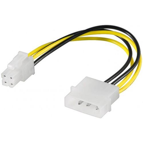 Cablu alimentare Molex 0.16m 5.25 tata la P4 tata