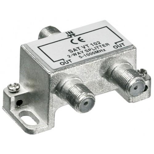 Distribuitor (spliter) CATV de interior, 2 iesiri, 5-1000MHz
