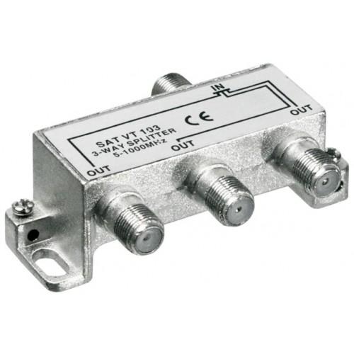 Distribuitor (spliter) CATV de interior, 3 iesiri, 5-1000MHz