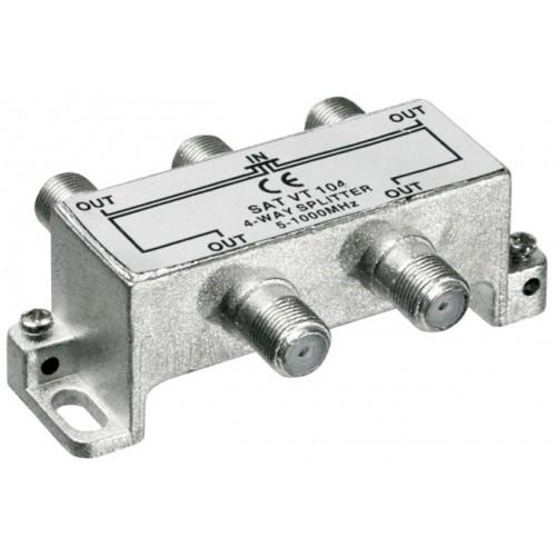 Distribuitor (spliter) CATV de interior, 4 iesiri, 5-1000MHz