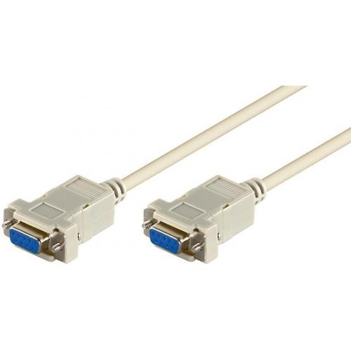 Cablu serial RS232 2m D-SUB 9 pini mama la D-SUB 9 pini mama