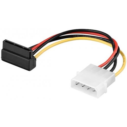 Cablu alimentare Molex 4 pini 5.25 tata la SATA 90° mama