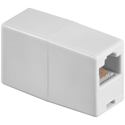 Adaptor UTP, ISDN 8P8C RJ45 mama la RJ45 mama, alb