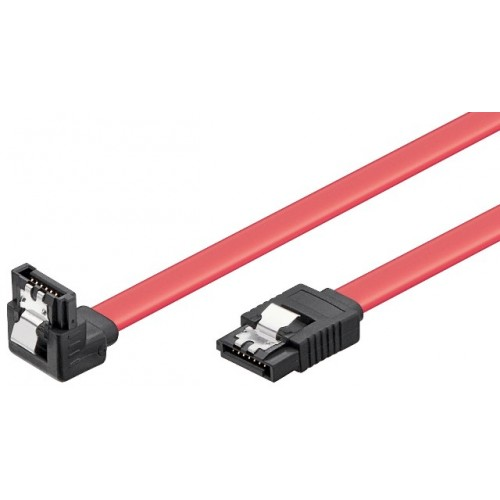Cablu de date HDD SATA L la SATA L 90° cu clip