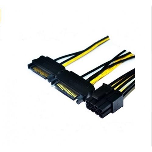 Cablu alimentare SATA 0.15m 2 x SATA tata la PCI Express 8 pini