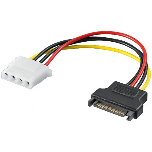 Cablu adaptor alimentare Molex 5.25 mama la SATA tata